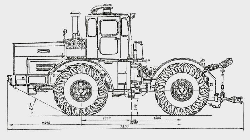 Габаритные размеры трактора Кировец К-700А