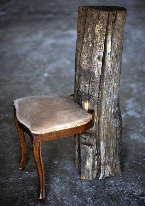 Необычная деревянная мебель.