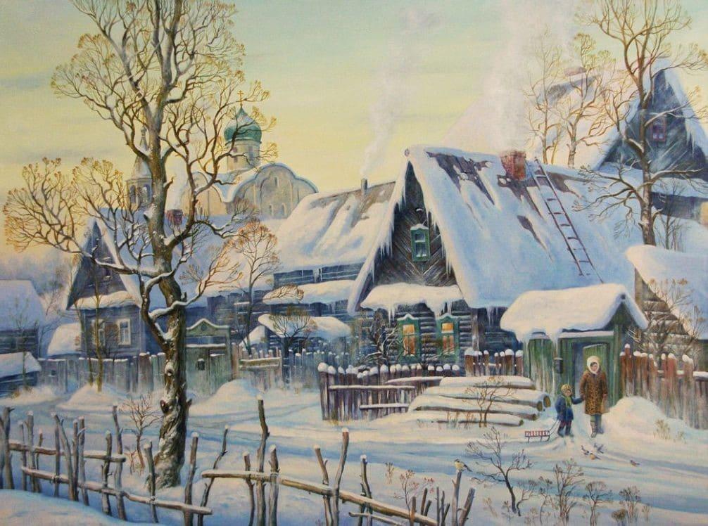 Художник Артур Костылев. В краю серебряных снегов