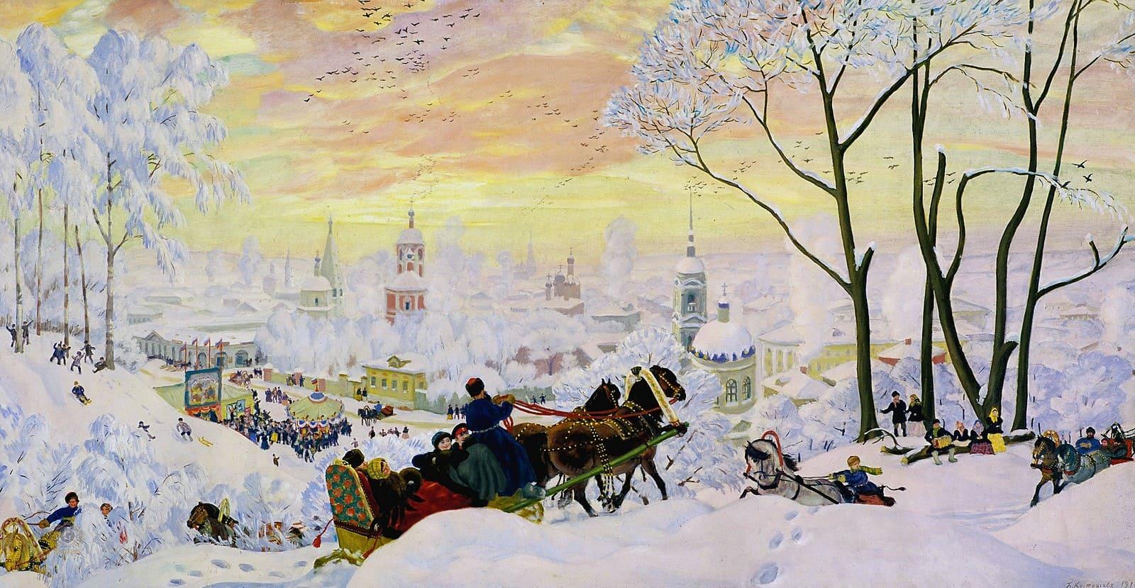Художник Борис Кустодиев (1878 – 1927). Его картины — это русская ярмарка