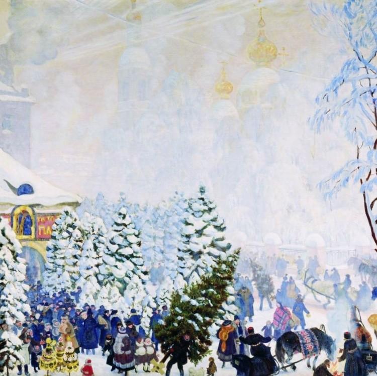 художник Борис Кустодиев картины - 18