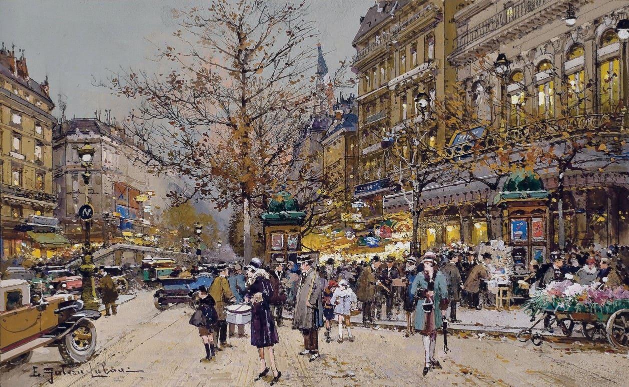 Художник Eugene Galien-Laloue (1854 – 1941). Париж. Счастливые времена
