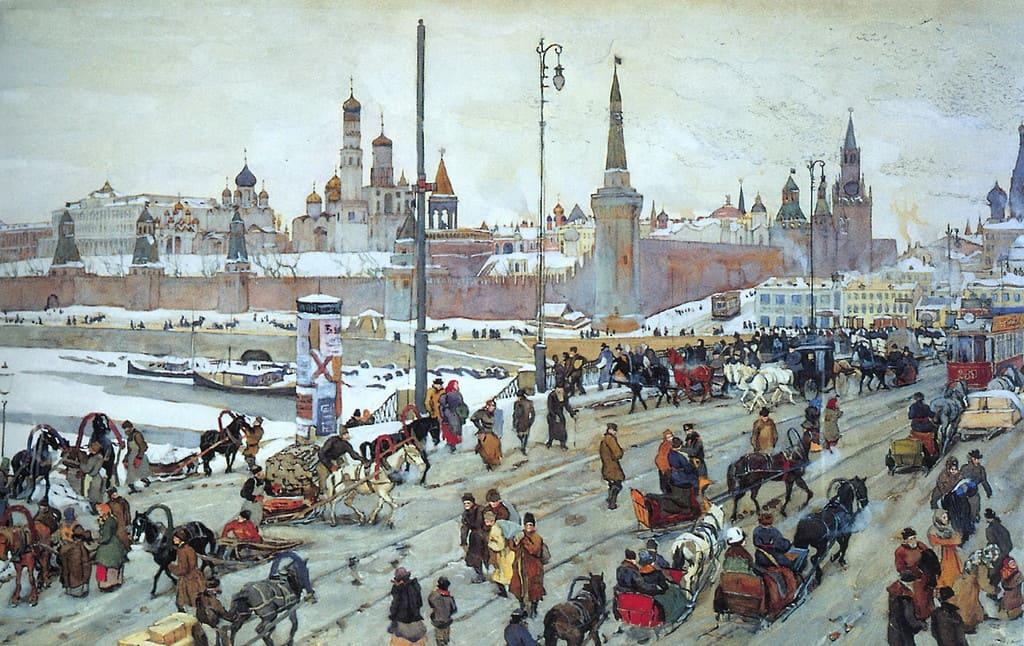 Художник Константин Юон (1875 – 1958) Россия - Золотые купола