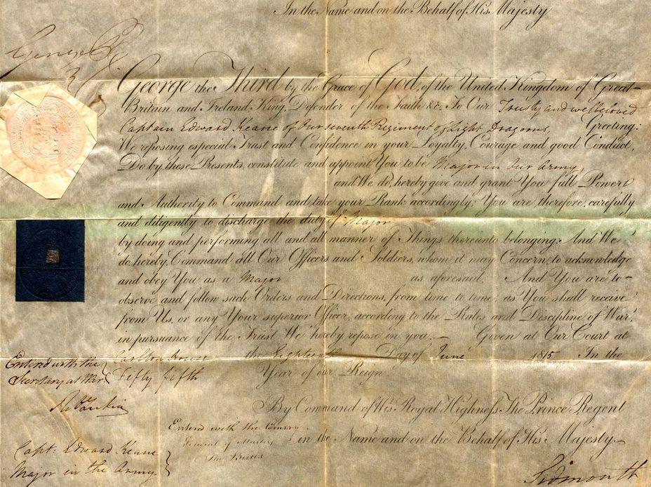 Офицерский патент образца 1815 года - Цена офицера | Военно-исторический портал Warspot.ru