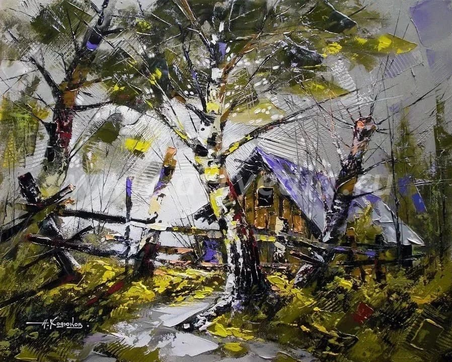 Художник Александр Ходюков. В изумрудной зелени лесов
