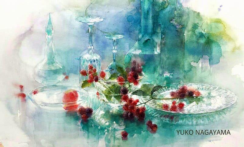Художник Yuko Nagayama. Акварельное нежное безумие
