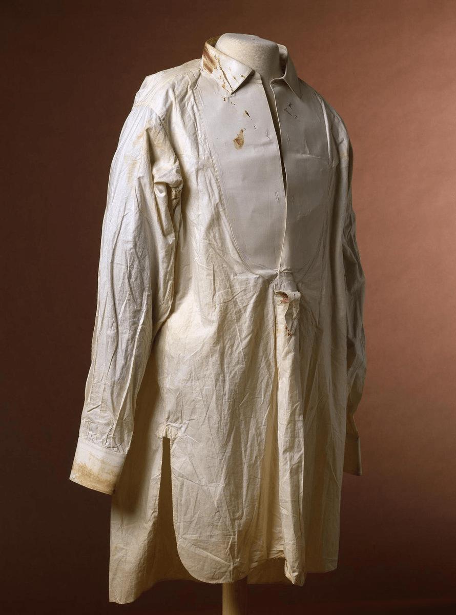 Рубашка,бывшая на Николае Александровиче во время покушения в Японии. (Эрмитаж)