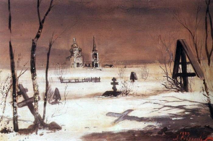 художник Алексей Саврасов картины - 07