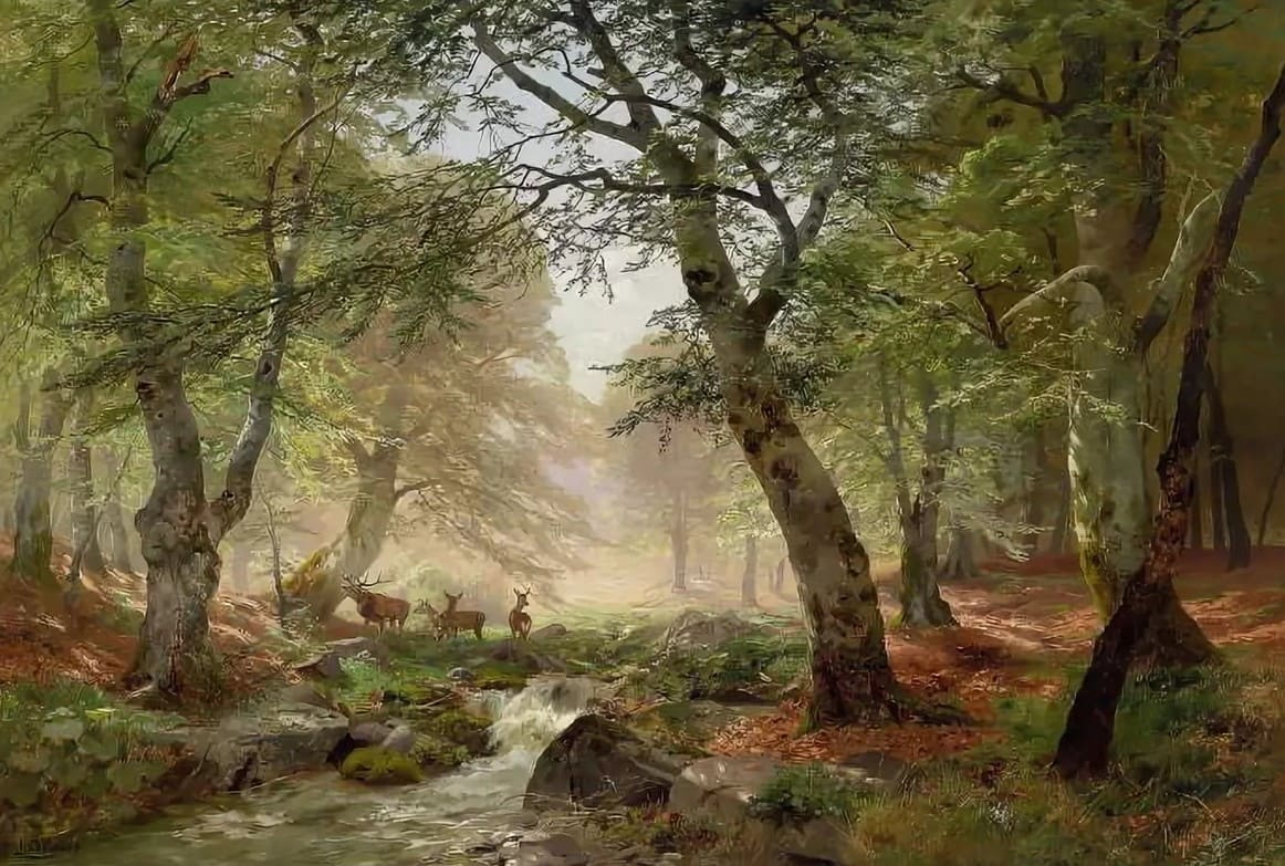 Немецкий художник Heinrich Bоhmer (1852 — 1930)