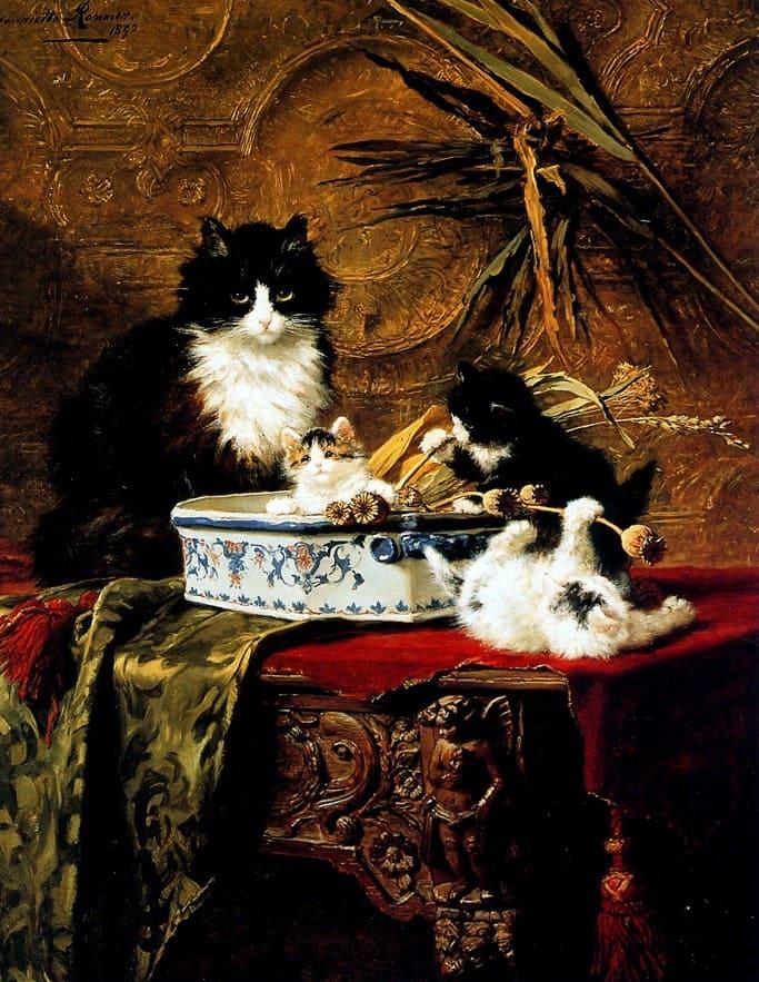 художник Генриетта Роннер-Книп (Henriette Ronner-Knip) – 16
