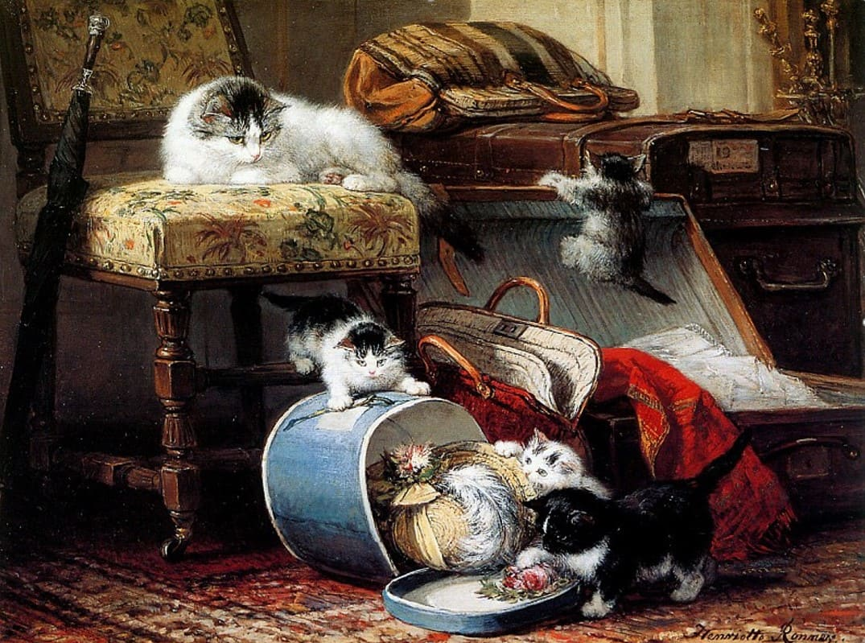 Художник Henriette Ronner-Knip (1821 — 1909)