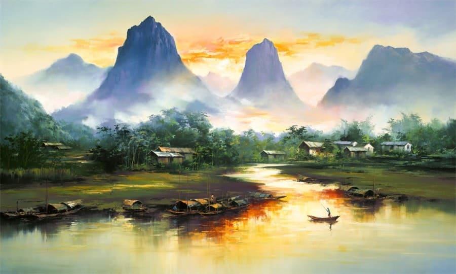 Художник Hong Leung. Волшебные пейзажи