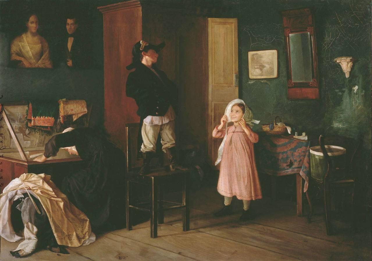 Художник Сергей Грибков (1822-1893). Молитва и благословение