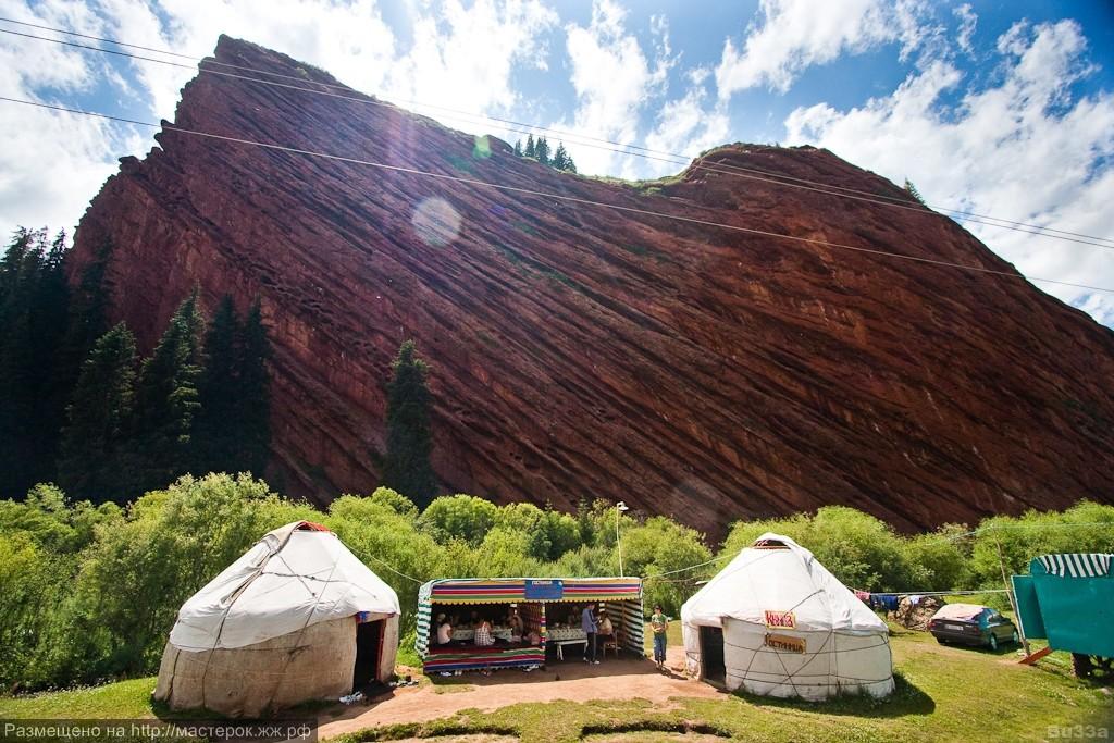 Семь быков - скалы Джети-Огуз (Киргизия)