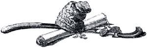 Конец повести «Пропавшая грамота». Иллюстрация Р. Штейна к повести Гоголя «Пропавшая грамота»