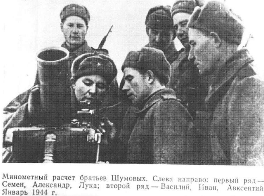 Минометный расчет братьев Шумовых