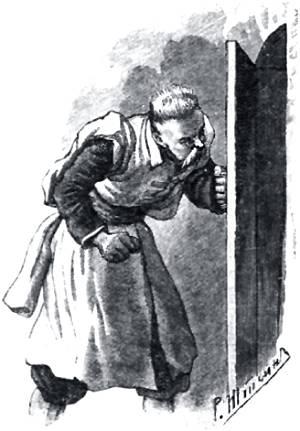 Пошел посмотреть коней — ни своего, ни запорожского! Иллюстрация Р. Штейна к повести Гоголя «Пропавшая грамота»