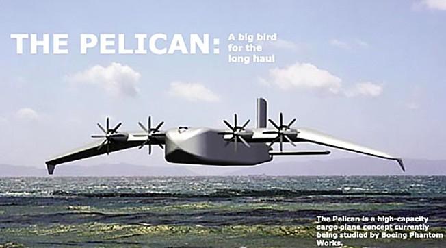 Проект тяжёлого транспортного летательного аппарата Pelican от компании Boeing.
