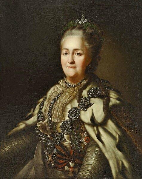 Портрет Екатерины II кисти неизвестного художника Изображение взято из интернета