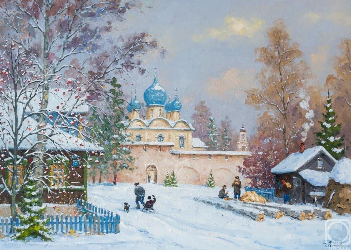 Художник Александр Александровский. Когда падал тихий белый снег