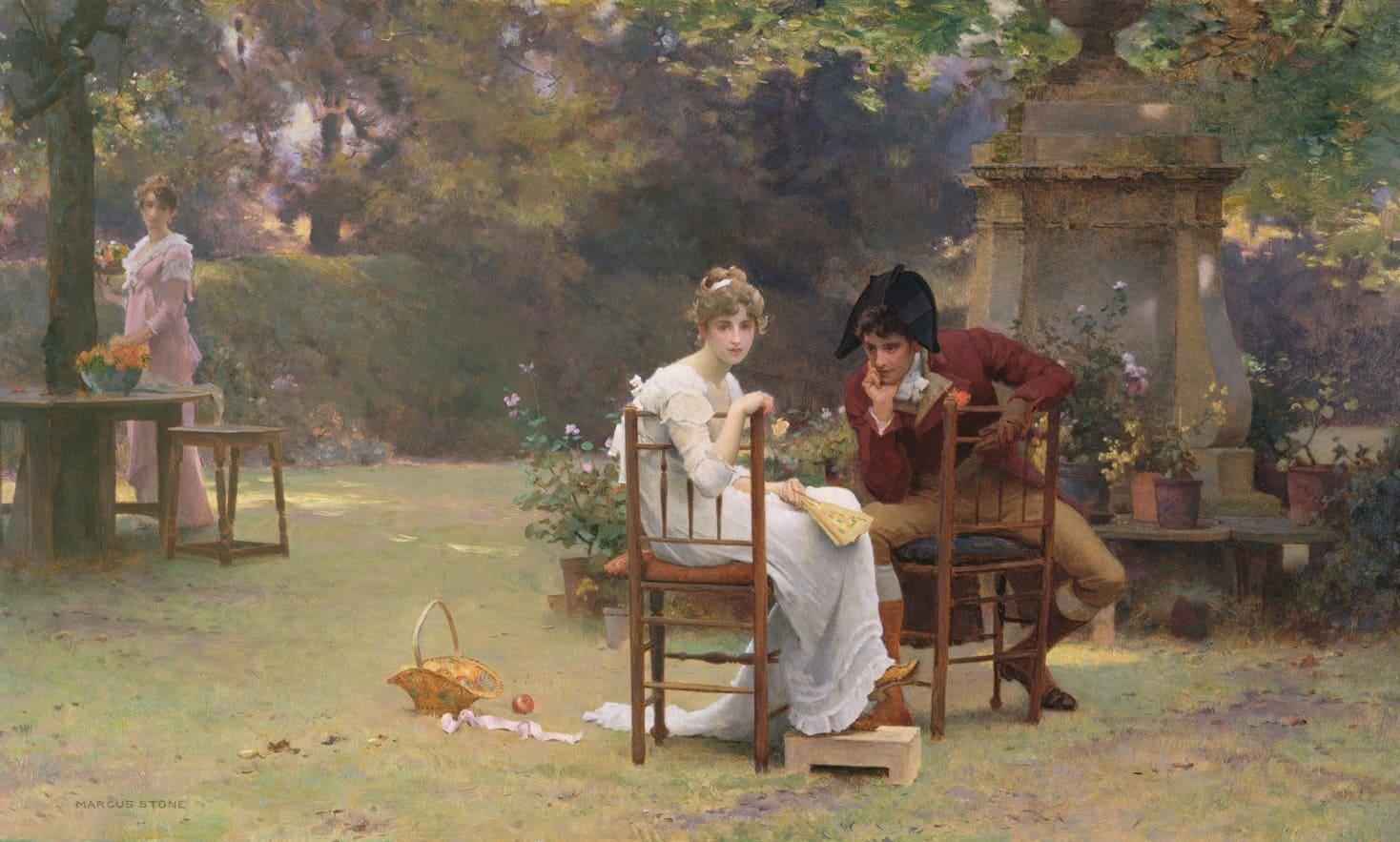 Художник Marcus Stone (1840 – 1921). Когда прошла пора цветения роз