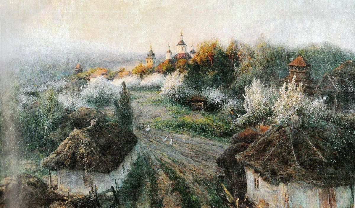 Художник Михаил Беркос (1861 – 1919). Расцвела сирень в Диканьке