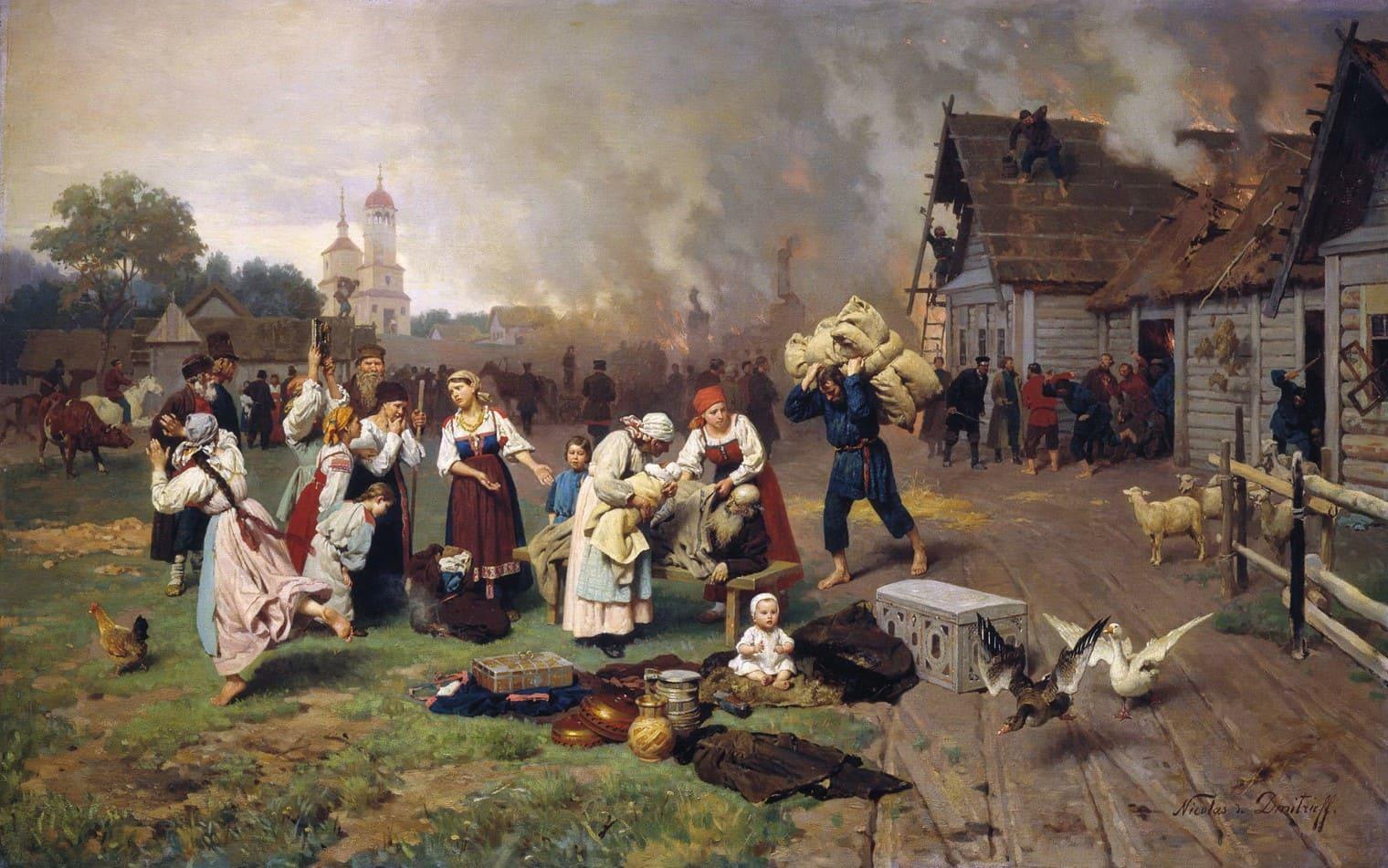Художник Николай Дмитриев-Оренбургский (1837 – 1898). Мечи и орала