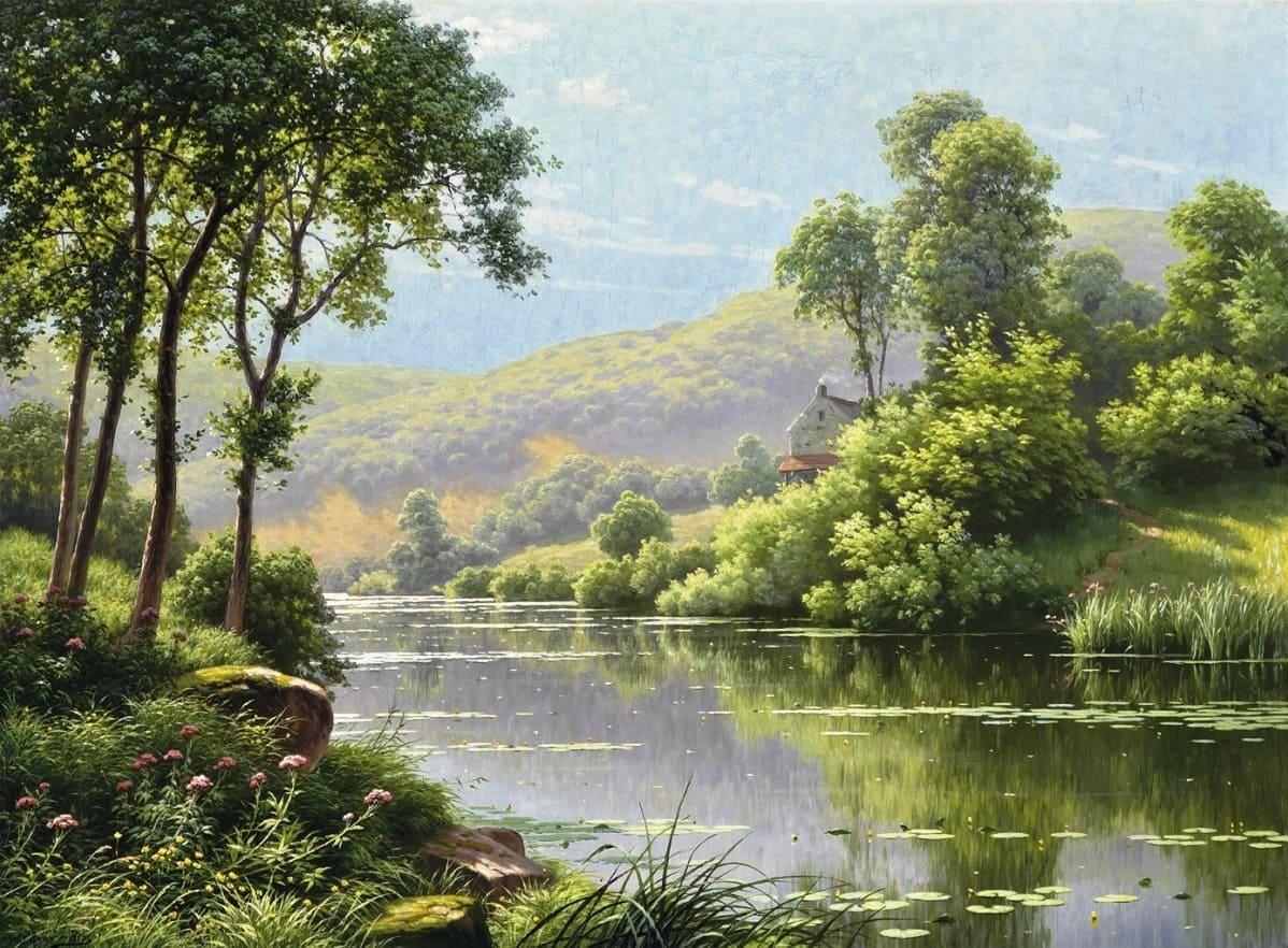 Художник Rene Charles Edmond His (1877 – 1960). Лесные пейзажи, которые очаровывают