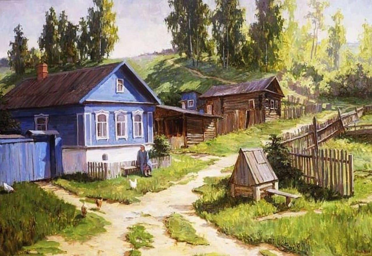 Художник Сергей Пантелеев. В зелёной церкви за горой, где вербы чётки уронили