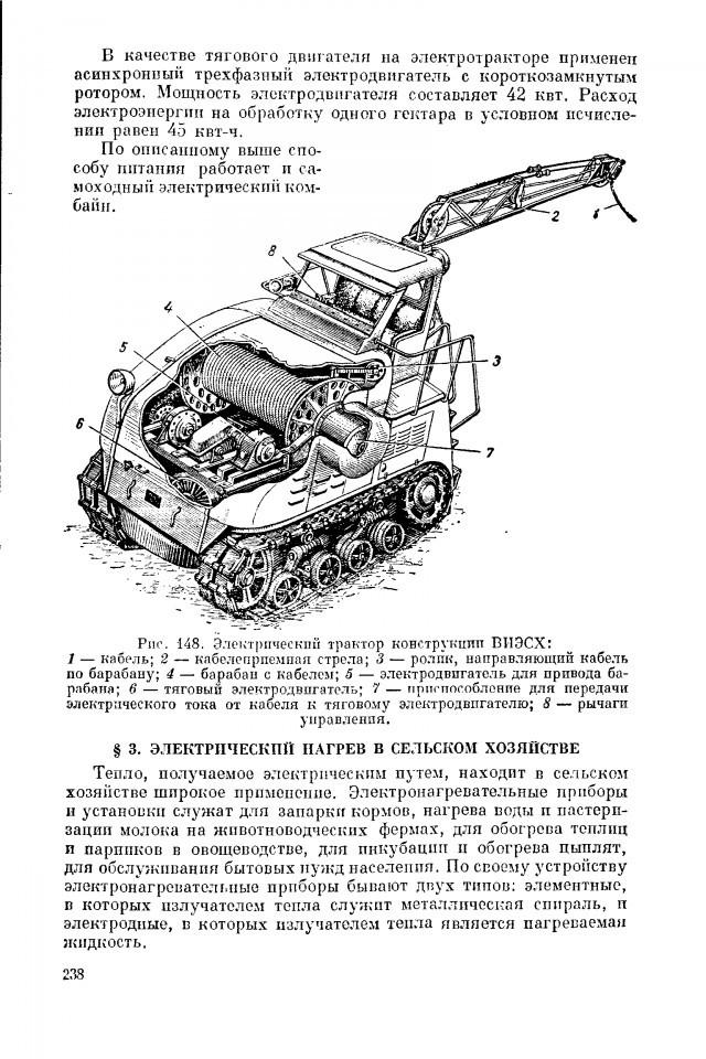 Советский электротрактор