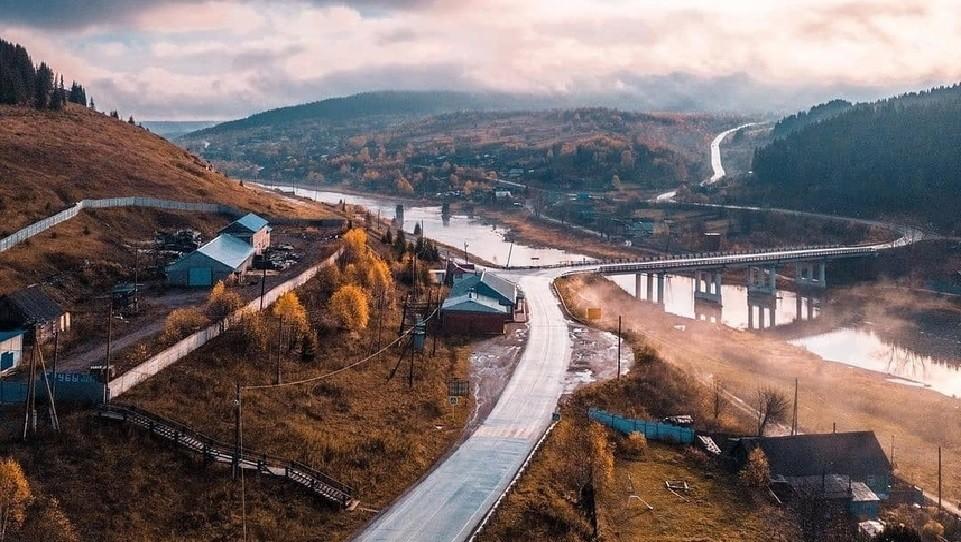 Поселок Усьва с высоты