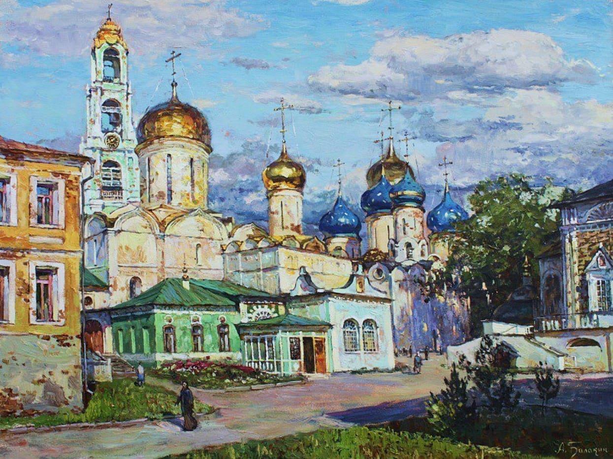 Художник Артём Балакин. Бабье лето и малиновый вечер