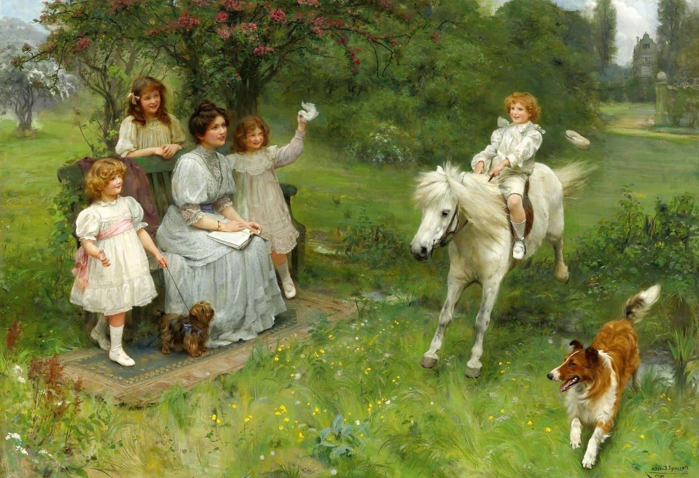 Художник Arthur John Elsley (1860 – 1952). Мастер сентиментальной живописи