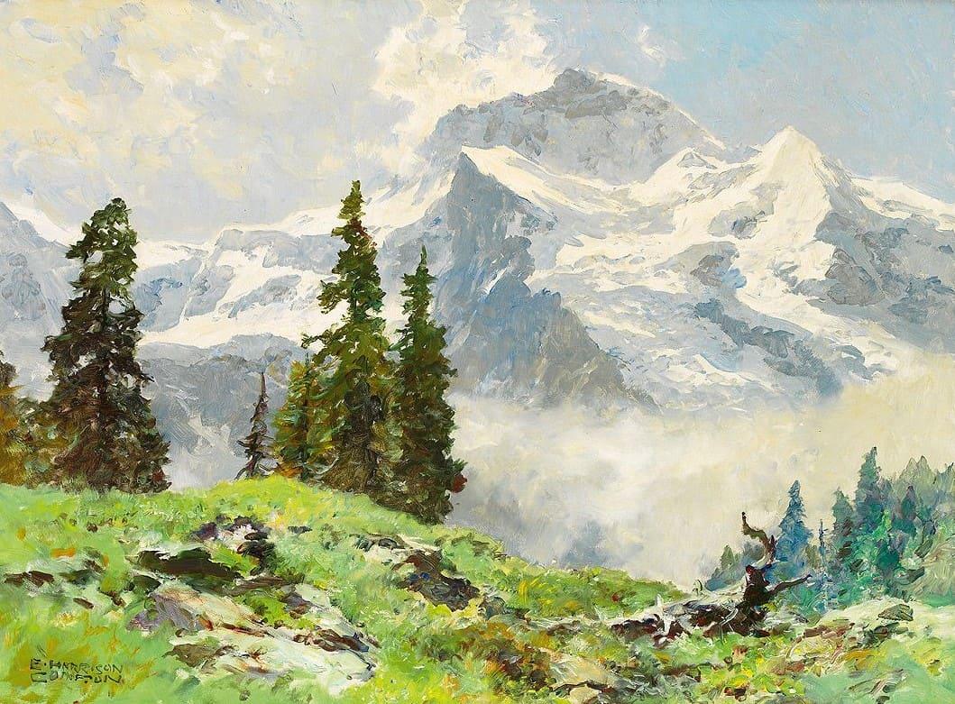 Художник Edward Harrison Compton (1881-1960). Лучше гор могут быть только горы