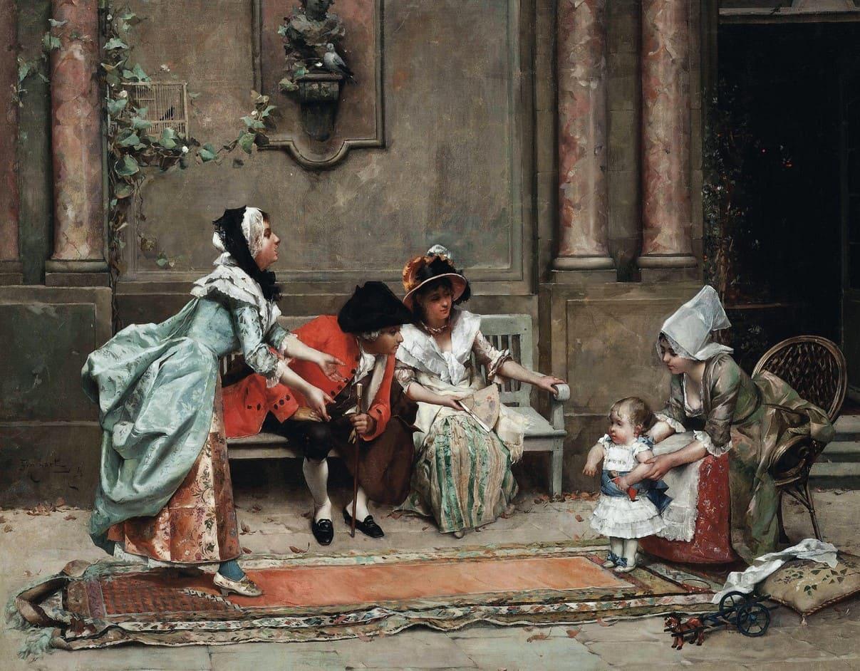Художник Auguste Emile Pinchart (1842 – 1924). О золотом веке Франции