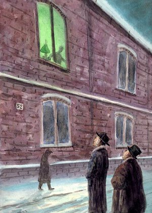 Иллюстрация В.М.Киркевича к рассказу А.Грина «Зеленая лампа»