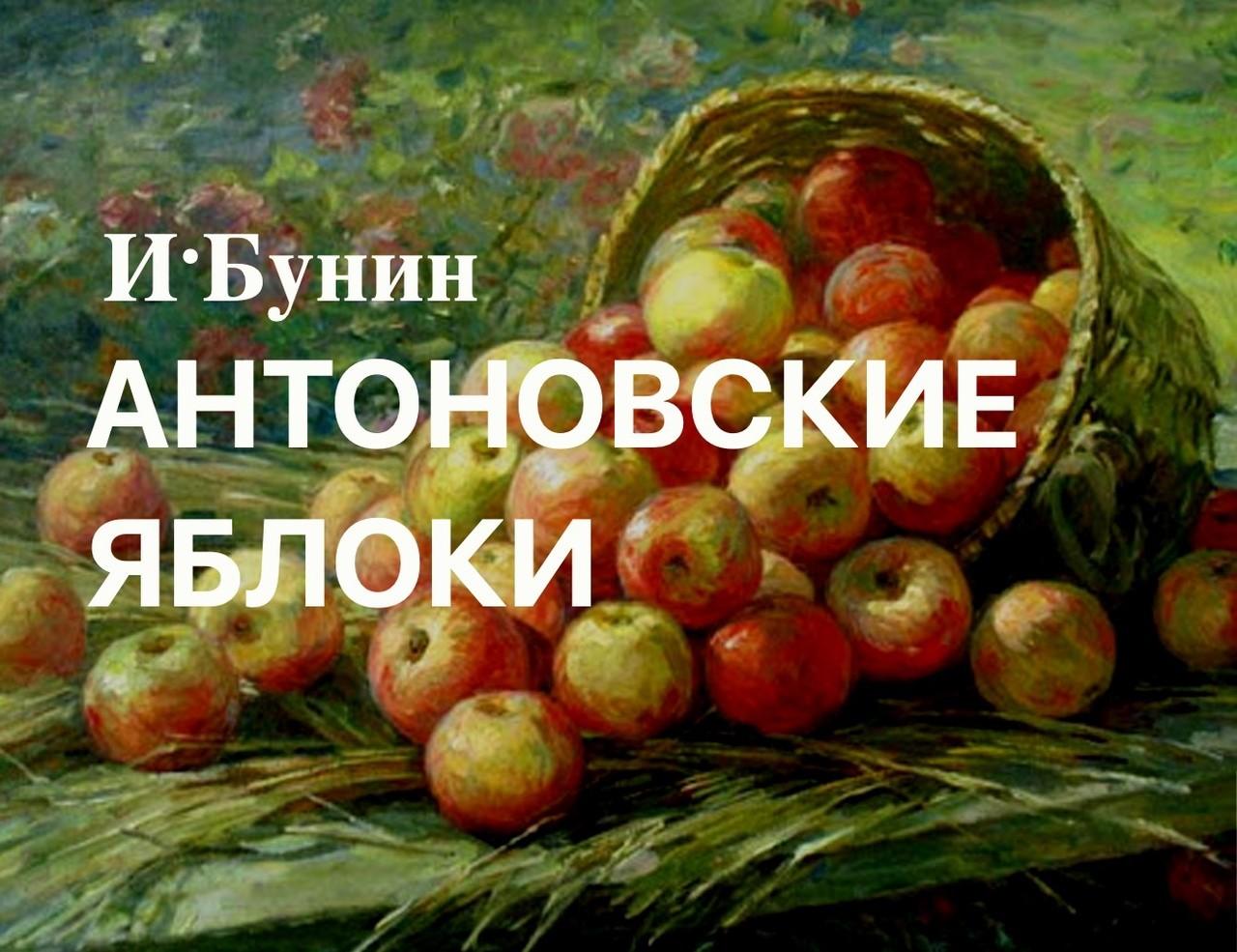 """""""Антоновские яблоки"""" рассказ. Автор Иван Бунин"""