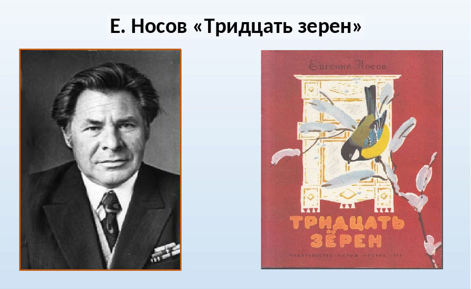 «Тридцать зёрен» рассказ. Автор Евгений Носов