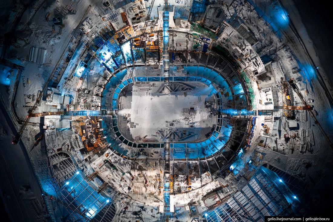 Строительство новой ледовой арены в Новосибирске. Декабрь 2020 (28 фото)