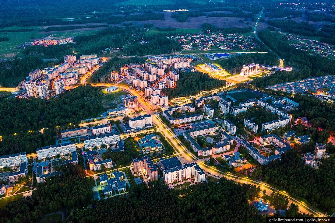 Наукоград Кольцово — современный посёлок для учёных (28 фото с высоты птичьего полёта)