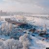 Строительство четвёртого моста через Обь в Новосибирске. Декабрь 2020 (18 фото)