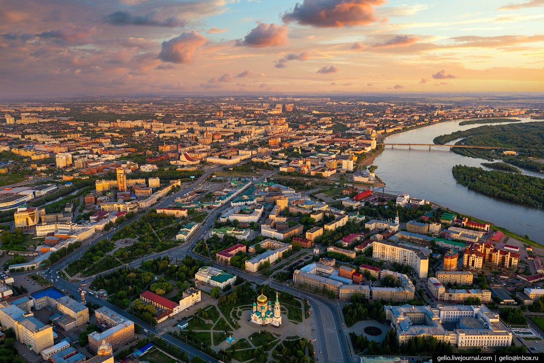 Фото Омска с высоты (67 фото)