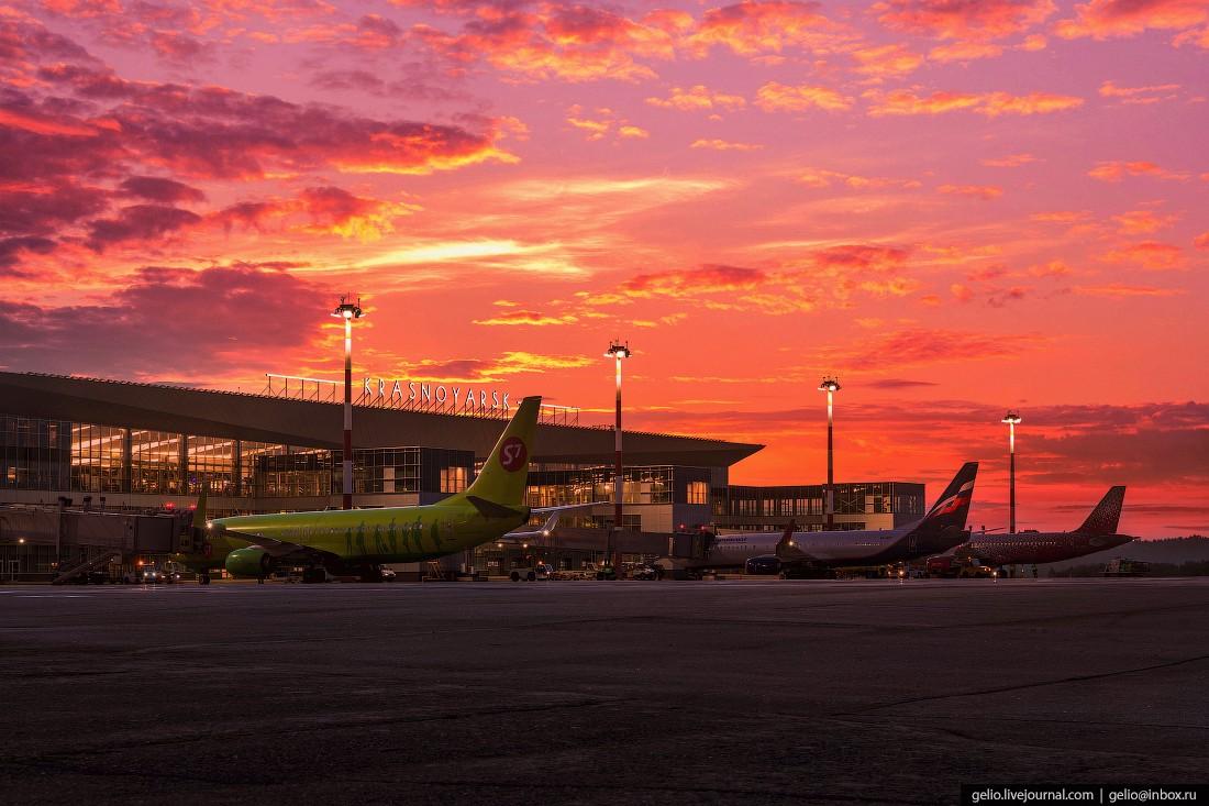 Аэропорт Красноярск — хаб в центре Сибири (53 фото)