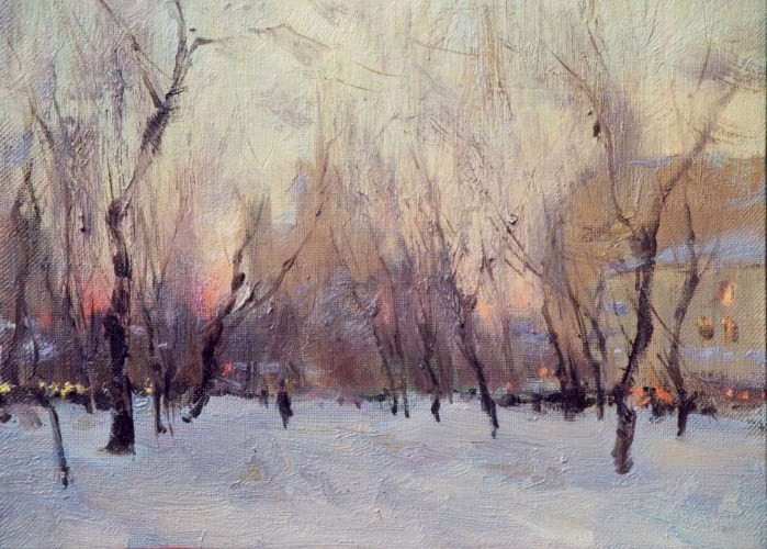 Landscape painting,contemporary Russian artist,oil painting (6)