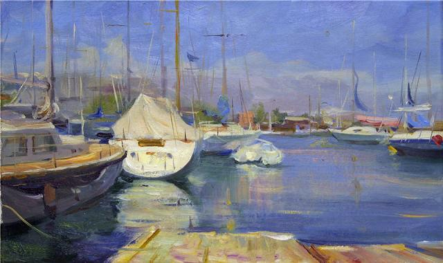 Landscape painting,contemporary Russian artist,oil painting (8)