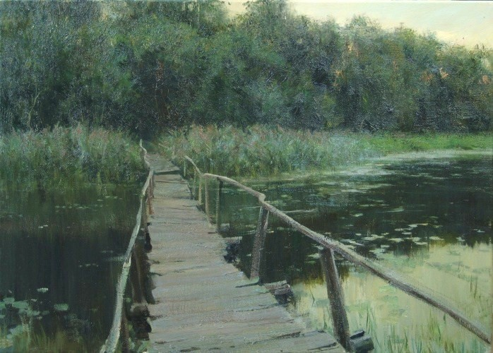 Landscape painting,contemporary Russian artist,oil painting (10)
