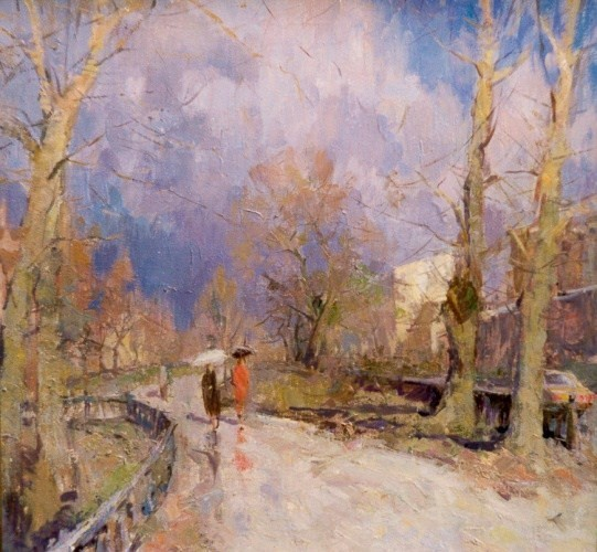 Landscape painting,contemporary Russian artist,oil painting (15)