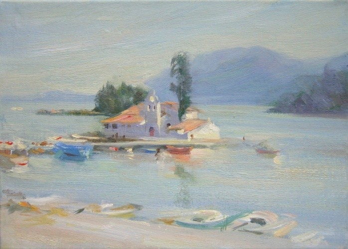 Landscape painting,contemporary Russian artist,oil painting (18)