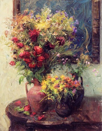 Landscape painting,contemporary Russian artist,oil painting,still life