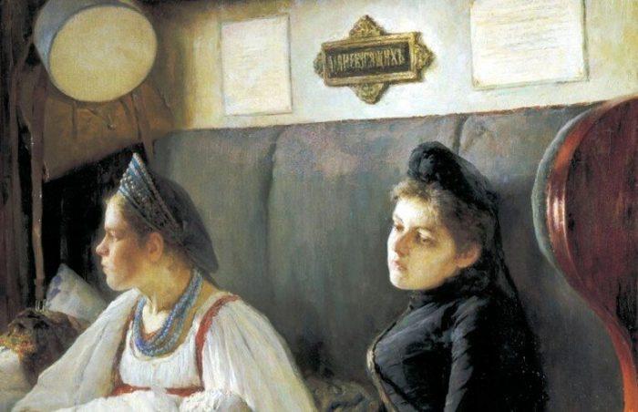 Леонид Пастернак «К родным», фрагмент